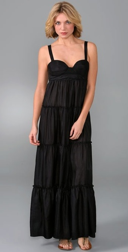 Twelfth St. by Cynthia Vincent Bra Top Tiered Long Dress