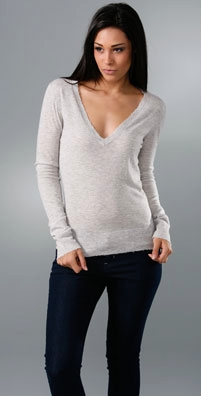 291 Let Nature Rock I Deep V Cashmere Sweater