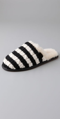 UGG Australia Striped Knit Scuffette Slippers