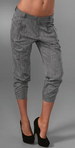 Vince Cropped Chambray Pants