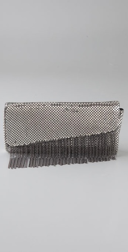 Whiting & Davis Liquid Chain Fringe Clutch from shopbop.com