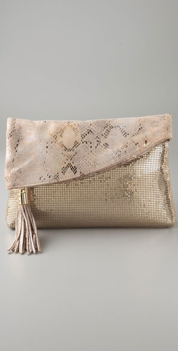Whiting & Davis King Snake Folded Clutch from shopbop.com