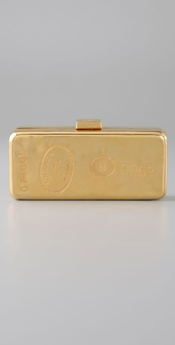 WGACA Vintage Vintage Chanel Gold Bar Clutch