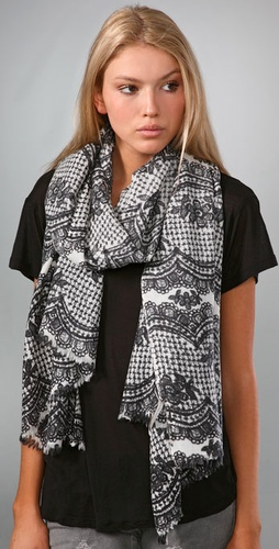 Scalloped Lace Scarf - YARNZ from shopbop.com