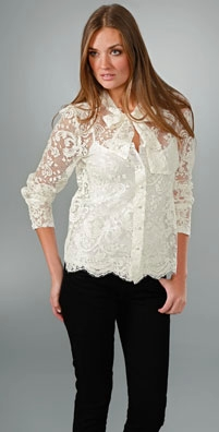 Zimmermann Revelation French Lace Shirt