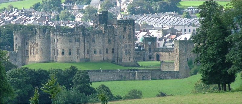 The castle used in the filming of the Harry Potter series is Alnwick