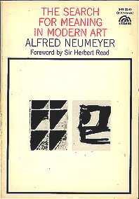 The Search for Meaning in Modern Art, Neumeyer, Alfred
