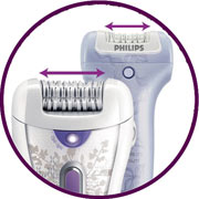Philips HP6576 Luxury for Legs Epilator, this new epilation head is wider than any other Philips Epilator