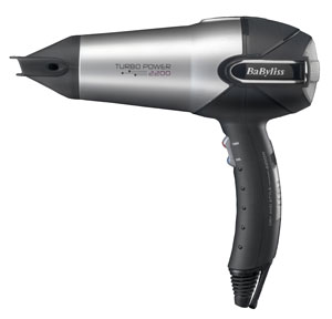 The BaByliss 5538U Turbo Power 2200W Hair Dryer can help dry, straighten and style your hair