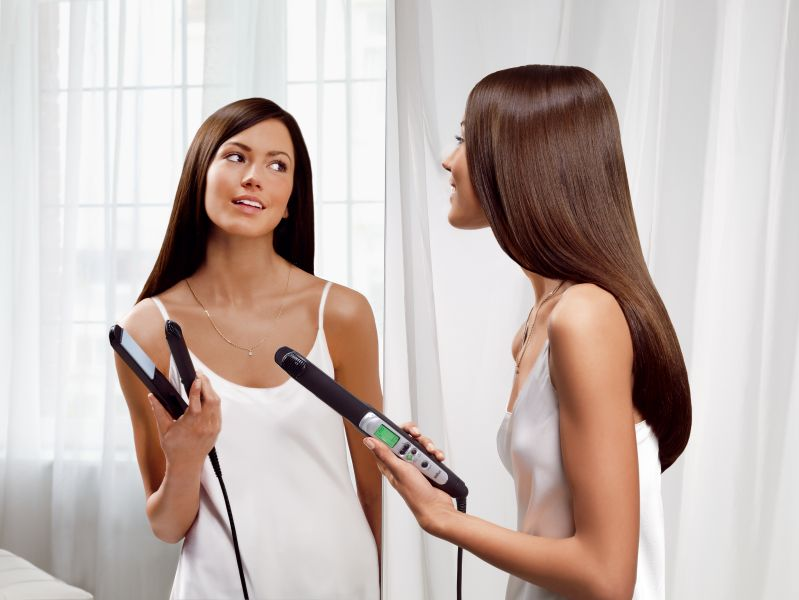 Frizz free with hair straighteners