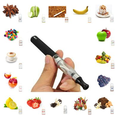 1 E Shisha Pen Electronic Shisha Stick Hookah - 5 Different 15Ml Flavor Juices
