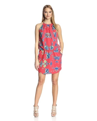 Ali Ro Women's Printed Dress with Pleat Detail