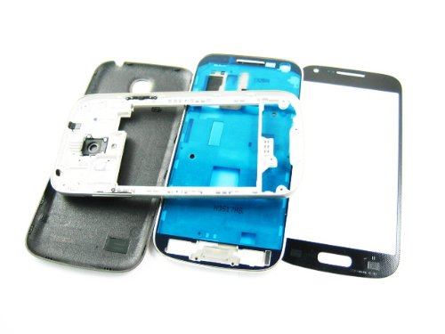 For Samsung Galaxy S4 Siv Mini Gt-I9190 Black ~ Cover Housing+Front Glass Screen ~ Mobile Phone Repair Part Replacement