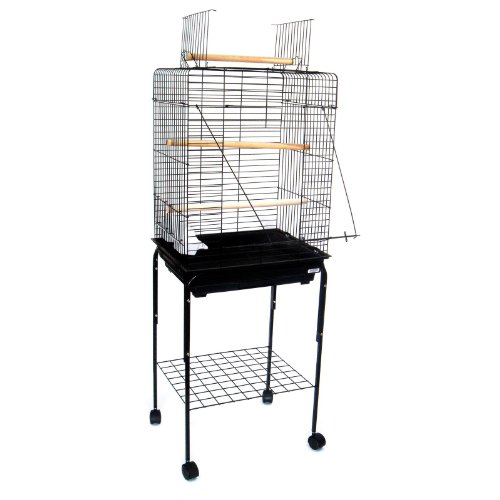Cheap Three Perch Playtop Bird Cage with Optional Stand (1924-4924-AS)