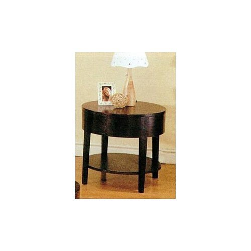 Cheap Cappuccino Finish Curved Design End Table (B000NDVQIE)