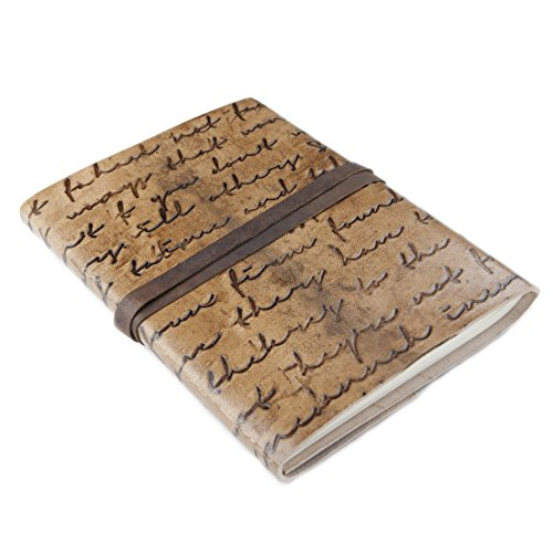 81stgeneration Handmade Leather Notebook Journal Recycled Paper A5 (15cm x 21cm)