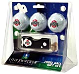 Ohio State Golf 3 Ball Gift Pack with Divot Tool