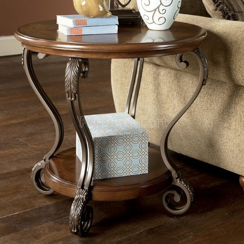Cheap Traditional Medium Brown Nestor End Table (T517-6)
