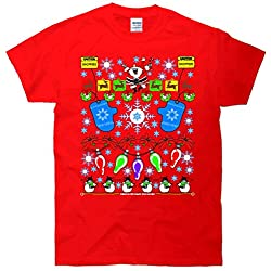 This Is My Ugly Christmas Sweater Santa Snowman T-Shirt
