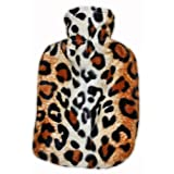 Warm Tradition LEOPARD FURRY CHILDREN'S Covered Hot Water Bottle - Bottle made in Germany, Cover made in USA