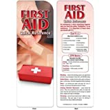First Aid Quick Reference Bookmark Trade Show Giveaway